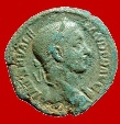 Ancient Coins - Severus Alexander (222 - 235 A.D.), bronze as (9,86 g. 25 mm). 223 A.D. Rome mint. PM TR P VIIII COS (III P P).