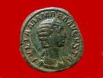 Ancient Coins - Julia Mamaea (222-235 A.D.) bronze sestertius (26,35 g. 30 mm.). Rome mint. 224 A.D. VENERI FELICI. S-C.