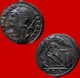 Ancient Coins - Attractive Constantinopolis AE follis. Aquileia. F/ AQS. Very rare