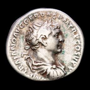 Ancient Coins - Trajan (AD 98-117.) Silver Denarius - Rome. - S P Q R OPTIMO PRINCIPI, Annona.