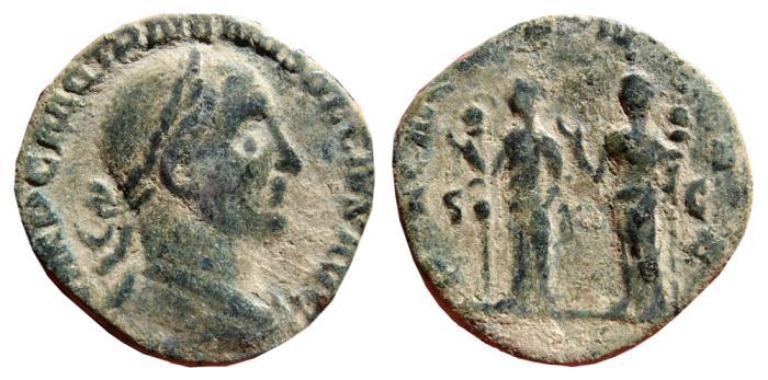 Ancient Coins - Trajan Decius Æ sestertius. Rome, 249-251 AD. PANNONIAE. S.C. Scarce.