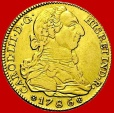 Charles III(1759-1788), 4 escudos gold coin, minted in Madrid in the year of 1786. Assayer DV.