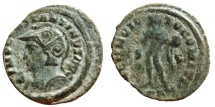 Ancient Coins - Constantine I AE helmeted follis. Londinum. PLN. Very rare. R2 in RIC.