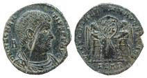 Ancient Coins - Magnentius AE22. Arles. Victories. PSAR.
