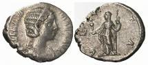 Ancient Coins - Julia Mamaea AR denarius. Rome mint, struck A.D. 226. VESTA.