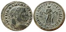 Ancient Coins - Maximianus as caesar follis. Carthage A/SALVIS AVGG ET CAESS FEL KART