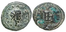 Ancient Coins - DIVO CLAVDIO AE antoninianus. CONSECRATIO. Struck failure,