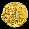 Ancient Coins - Spain - Juana & Carlos (1504 - 1516 - 1555)  Gold Escudo. (3.39 g. 23 mm.)  Mint of Sevilla.