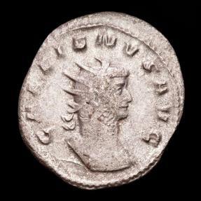 Ancient Coins - Gallienus (253-268 A.D.) Silver antoninianus. Rome. - P M TR P X COS / IIII P P emperor in quadriga, very rare !