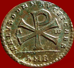 Ancient Coins - Magnentius (AD 350-353) bronze double centenionalis (Maiorina). Ambianum (Amiens) mint, AD 353.  VF condition. RIC VIII 34. Rare!!