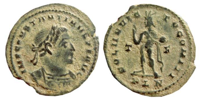 Ancient Coins - Constantine I Æ Follis. 307-337 AD. Londinum mint. T-F//PLN