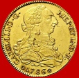Spain - Charles III (1759-1788) 8 escudos gold coin, Sevilla. 1786, assayer C. Very scarce