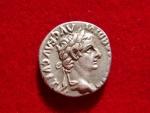 Ancient Coins - Tiberius (14-37 AD) silver denarius (3.70 g. 18 mm.), Lugdunum mint, 36-37 A.D. RIC 30.