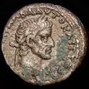 Ancient Coins - Galba 68-69 A.D. Billon Tetradrachm. Alexandria. Year 1 = 68 AD. - ΡΩ-MH, helmeted, draped bust of Roma right, holding spear and shield.
