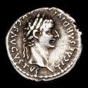 Ancient Coins - Roman Empire - Tiberius (A.D. 14-37) silver denarius (3,77 g, 19 mm.), Lugdunum mint, A.D. 36-37. PONTIF MAXIM.