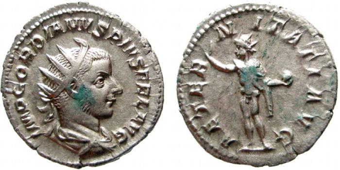 Ancient Coins - Gordian III AR antoninianus. Rome, 238-244 AD. AETERNITATI AVG. EF.