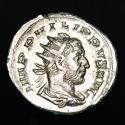 Ancient Coins - Philip I Arab AD 244-249. Rome - Antoninianus AR. NOBILITAS AVGG, Nobilitas holding sceptre and globe, on left, ς.