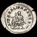 Ancient Coins - Philippus II (244-249). AR Antoninianus. Rome. - LIBERALITAS AVGG III, Philip I and II seated left on sella curulis