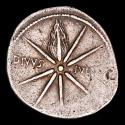 Ancient Coins - Augustus. Caesaraugusta. AR Denarius 19-18 BC. - Eight rayed comet with tail upwards DIVVS-IVLIVS