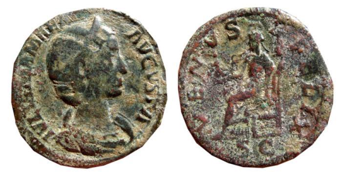 Ancient Coins - Julia Mamaea Æ sestertius. 224 AD. VENVS FELIX. S-C.