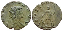 Ancient Coins - Gallienus AE antoninianus. Rome XI. CONSERVAT.....Very scarce & nice!