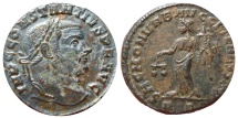 Ancient Coins - Constantius I AE large follis. Rome */RP. SACRA MONETA. VF!!