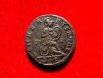 Ancient Coins - Roman Empire - Licinius II caesar (A.D. 317-324) bronze follis (3,00 g. 18 mm.). Rome mint, struck A.D. 318. ROMAE AETERNAE / XV / P - R / RP. Rare.