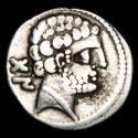 Ancient Coins - Ancient Hispania Bolskan (Huesca) silver denarius. Celtiberian series with spear-horseman! Second century B.C.