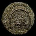 Ancient Coins - Trajan  (AD 98-117) Bronze Sestertius, Rome AD 111. - S P Q R OPTIMO PRINCIPI AQVA TRAIANA, River god