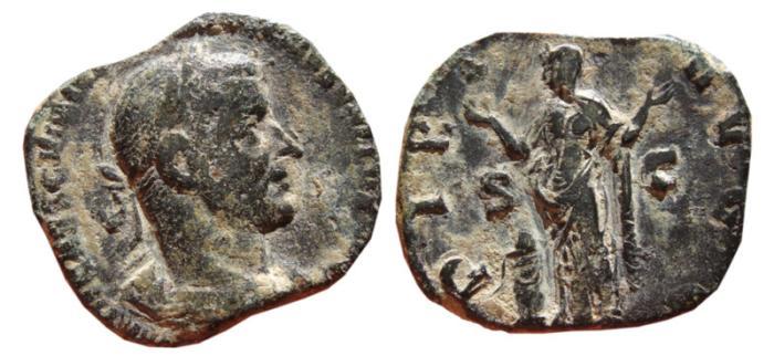 Ancient Coins - Trebonianus Gallus AE sestertius. Rome, 251-253 AD. PIETAS AVGG. S-C. 24,39 g!!