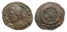 Ancient Coins - Julian II helmeted AE20. Arles. VOT/X/MVLT/XX. SCONST.
