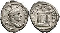 Ancient Coins - DIVO TRAIANO antoninianus minted under Trajan Decius (250-251). CONSECRATIO, RIC. 86 a. RARE!