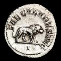 Ancient Coins - Philip I (244-249 A.D.) Ar antoninianus. Rome. - SAECVLARES AVGG, lion walking right; I in exergue.