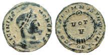 Ancient Coins - Licinius II AE follis. Londinum. VOT V. Very scarce.