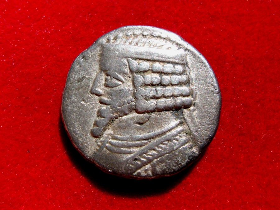 Ancient Coins - Kings of Parthia. Phraates IV (38-2 BC). Silver tetradrachm minted in Seleukeia.