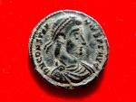 Ancient Coins -  Constantius II (337 - 361) bronze maiorina (2,98 g. 18 mm.), 351-355 A.D. Sirmiun mint. ASIRM. FEL TEMP REPARATIO.