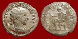Ancient Coins - Gordianus III AR antoninianus. 238-244 AD. PM TR P IIII COS II P P. Apollo