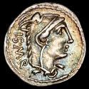Ancient Coins - L. Thorius Balbus Ar denarius. North of Italy. 105 B.C. - Bull charging right, B - L. THORIVS - BALBVS