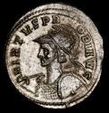 Ancient Coins - Probus AD 276-282. Ticinum - Silvered BI Antoninianus. - VIRTVS AVG // QXXT Mars