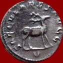 Ancient Coins - RARE AND LOVELY PHILIP I SILVER ANTONINIANUS MINTED IN ROME IN 248 A.D.  SPECIAL EMISSION. 5TH. OFFICINA. SECVLARES AVGG – STAG.  RIC. 20; C. 185. Rated R2 in RIC.
