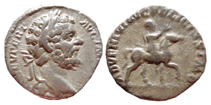 Ancient Coins - Septimius Severus AR denarius. Rome, 196 AD. ADVENTVI AVG FELICISSIMO. Scarce.