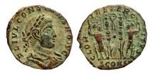 Ancient Coins - Constans as caesar follis. 337-350 AD. Arles mint. Wreath, SCONST.