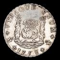Ancient Coins - Spain - Fernando VI (1746-1759) Silver 8 reales 1758, Mexico. Essayer MM. Crowned Pillars.