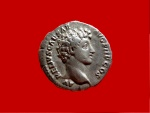 Ancient Coins - Roman Empire - Antoninus Pius with Marcus Aurelius as Caesar silver denarius (3,00 g, 18 mm). Rome mint. A.D. 140. Double bust. Rare.