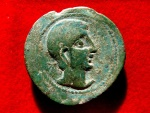 Ancient Coins - Roman Hispania - Castulo (Linares, Jaén), bronze as (28,03 g. 34 mm.) minted around 190 - 150 B.C. CASTELE. Sphinx. Heavy series, first period of the mint.