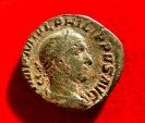 Ancient Coins - Roman Empire - Philip I (244-249 A.D.), bronze sestertius (22,09 g. 29 mm.) Rome mint 244 A.D. PAX AETERNA S C. RIC 185.