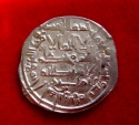 Spain, Caliphate of Cordoba - Silver dirham of Hisam II (2,86 g. 22 mm),  struck in Al- Andalus (actualy Corduba-Spain) in the year of 1003 A.C. (392 A.H.).