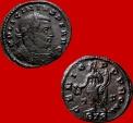 Ancient Coins - Roman Empire - Licinius I (308-324 A.D.) bronze follis (3,00 g. 19 mm.). Trier mint. 316 AD. GENIO POP ROM / T-F / ·BTR· Very rare. RIC 119.