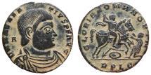 Ancient Coins -  Magnentius AE20 Lugdunum RPLG. GLORIA ROMANORVM. Spectacular details!
