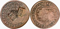 World Coins - Brazil Imperio 40 Réis (1834) - Pedro II  Maranhao First Series - Double Countermarked MX Réis